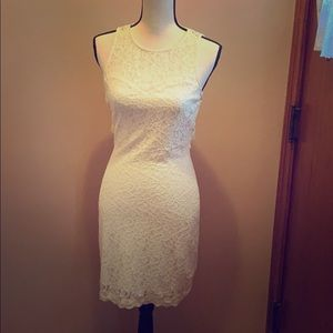 🌟Express fitted cream dress🌟